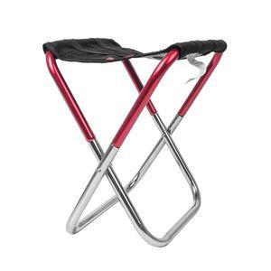 Ultraleicht Klapphocker Faltbar Camping Hocker Strandhocker 150kg Angelhocker 230 x 130 x 255 mm rot schwarz Tasche, Multi Tools