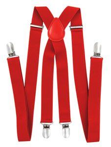 axy® Rot Herren Hosenträger 2,5cm breite mit 4 Stabile Clips X-Form länge verstellbar Hochzeit-Business Outfit