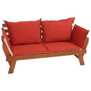 Garden Pleasure Gartenbank + Kissen Couch Sofa Holz Garten Bank Sitzbank Möbel