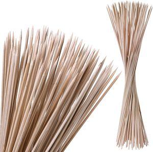 100 Stockbrot Spieße aus Bambus 90 cm Lagerfeuer Stöcke und Marshmallow Stäbe