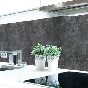 Küchenrückwand Schieferstruktur Anthrazit Premium Hart-PVC 0,4 mm selbstklebend - Direkt auf die Fliesen, Größe:60 x 51 cm
