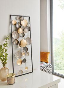 Metall-Bild 'Circles' Wand Deko Möbel Wohnen, trendiger Used Look, Blickfang