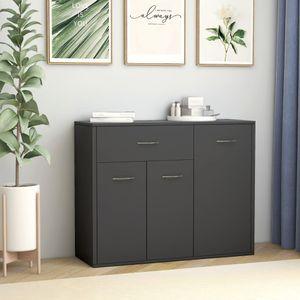 【Neu】Kommoden Sideboard Grau 88×30×70 cm BEST SELLER- Spanplatte Gesamtgröße:88 x 30 x 70 cm BEST SELLER-Möbel-Schränke-Sideboards im Landhaus-Stil