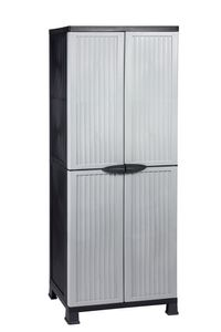 Kreher Universalschrank Noble ca. H 171 x B 68 x T 40 cm, grau/schwarz