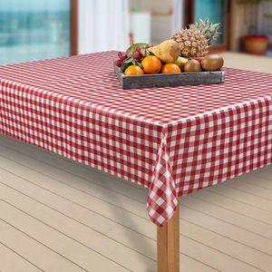 Wachstuch-Tischdecke Wachstischdecke Tischwäsche Abwaschbar Wachstuchdecke, Muster:Bavaria Rot, Größe:130-130 cm