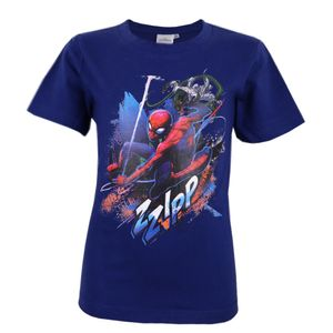 Marvel Spiderman Kinder T-Shirt Blau Gr. 122