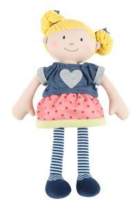 sigikid Softdolls Puppe, Stoff Puppe, Stoffpuppe, Schlenker, Weichpuppe, Kinder Spielzeug, Polyester, Blond, 41475