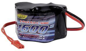 Carson Hump Pack Empfänger Akku 6V/1600 mAh mit BEC Stecker