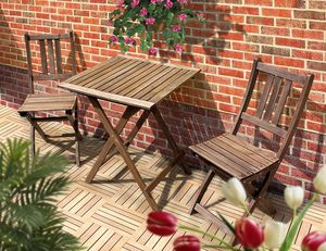 Gartenmöbel-Set TAMPA, 3-tlg. mit Klappfunktion, Balkon-Set aus kontrolliertem Eukalyptusholz, geölt