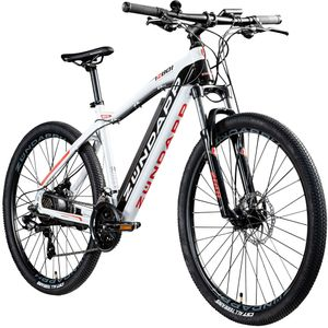 Zündapp Z801 650B E-Bike E Mountainbike 27,5 Zoll Hardtail Pedelec Elektrofahrrad Fahrrad, Farbe:schwarz/weiß, Rahmengröße:48 cm