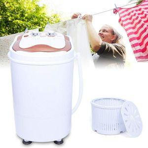 Mini Waschmaschine mit Schleuder 2 in 1 Miniwaschmaschine Waschautomat Campingwaschmaschine 6Kg für Camping Home Reise Dehydration 54x35x34cm Weiß