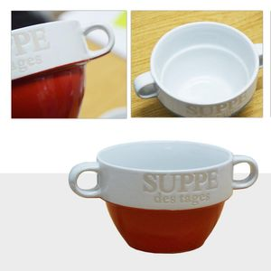 Suppentasse Suppen Tasse Suppenschüssel Schüssel Suppenterrine Suppe Landhaus (Rot)
