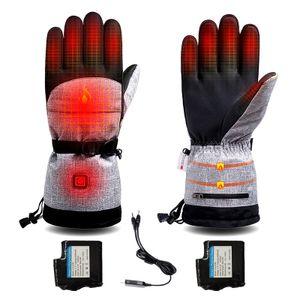 Batteriebetriebene, beheizte Handschuhe,3 Einstellbare Heiztemperatur Elektrische Handschuhe Wasserdichte Handschuhe für Männer Frauen