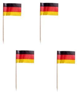 "PAPSTAR Partypicker ""Germany"" schwarz/rot/gelb aus Holz 200 Stück"