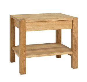 Haku Beistelltisch Massivholz, eiche geölt, Maße: 50 x 40 x 45cm, 30312