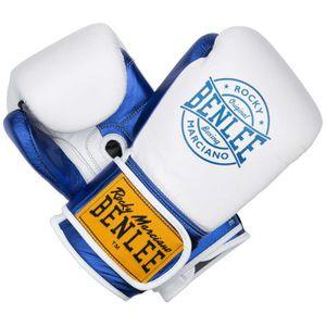 Benlee Metalshire Boxhandschuhe Leder White Blue - Gewicht: 14 oz