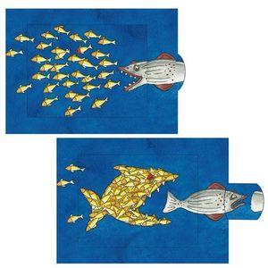 Curiosi Lebende Karte Fischschwarm
