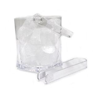 1x Kadum Eisbehälter Eiskübel aus Polycarbonat bruchfest und kratzfest in Echtglasoptik 2 Liter