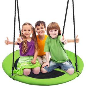 Nestschaukel Tellerschaukel für Kinder und Erwachsene Mehrkindschaukel 10068, Größe:100 cm