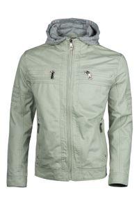 Herren Baumwolle Jacke Übergangsjacke mit Kapuze Sommer Frühling Windbreaker, Größe:XL, Farbe:956 Blassgrün