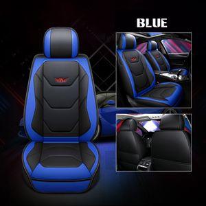 Universal Auto Sitzbezug Sitzbezüge Luxury PolyurethanKunstleder Schonbezüge Sitzauflage Autositzbezüg Farbe: Blau