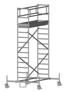 ZARGES RollMaster 1T - LM-Fahrgerüst Fahrbalken Arbeitshöhe 5,60 m