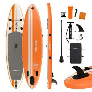 AREBOS Stand Up Paddle SUP Board Paddling Surfboard aufblasbar mit Paddel 300cm