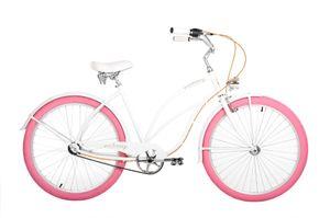 26 Zoll Cruiser Embassy Classic Pinkie Pie 3 Gänge Weiß 50 cm Rahmengröße