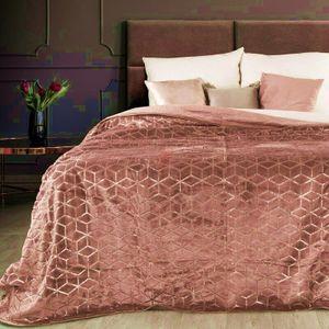 TAGESDECKE OLI rosa kupfer 170x210 cm rosa kupfer