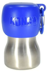 KONG H2O 255 ml Edelstahl Wasserflasche blau