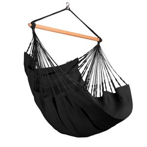 Habana Onyx - Hängestuhl Comfort aus Baumwolle schwarz
