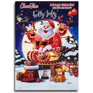 Holly Jolly  Adventskalender mit Schokolade Schoko Weihnachts Kalender 25