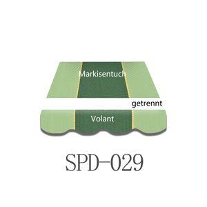 Vana 3x2,5m Markisenstoff Markisenbespannung Markisentuch mit Volant SPD029