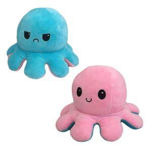 (Stil 2) Kuscheltiere, Niedliche Oktopus-Plüsch-Spielzeug, Doppelseitig Flip Oktopus-Stofftierpuppe, Kreatives Spielzeug, Geschenke für Kinder