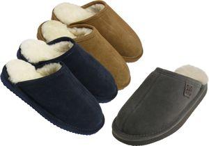 Extra dicke Pantoffeln aus Lammfell  in 3 Farben, Farben:braun, Schuhgröße:41