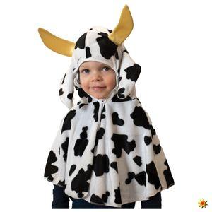 Kinder Kostüm Kuh Tier Umhang mit Kapuze, Größe:98