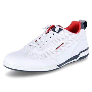bugatti Herren Sneaker Sneaker Low Synthetikkombination weiss 43