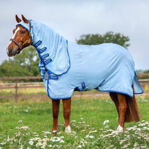 Horseware Amigo Ripstop Hoody - Azure Blue, Größe:140