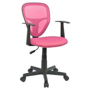 Kinderdrehstuhl STUDIO in pink mit Armlehnen