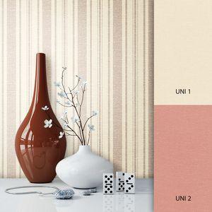 Tapete  Beige Vlies Landhaus Modern Streifen Textil Modern Landhaus  Streifen Linien  Giffer – Muster
