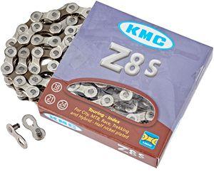 KMC Kette Z8s silber/braun für 8-fach Schaltung