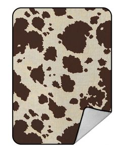 ABPHQTO Vintage Big Cow Bull Fell Tier Fleece Decke Throw Blanket 145x200 cm