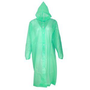 Regenponcho Damen Herrn Regenjacke Regenmantel, Regencape, Regenkleidung für Fahrrad Farbe Grün