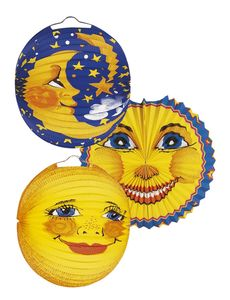 Laterne Sonne & Mond - Ø 25 cm, sortiert, 10 St.