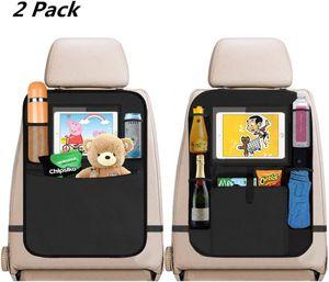 Auto Rücksitz Organizer Kinder, 2 Stück Auto Rückenlehnenschutz Kick-Matten-Schutz für Autositz Autositzschoner