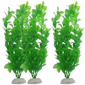 Aquariumpflanzen Grün künstliche Aquarium Pflanzen Wasserpflanzen 26cm C0L7