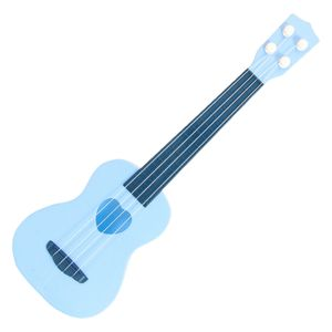 Simulierte Mini Kindergitarre Spielzeug Ukulele Klassische 4 Saiten Kinder Pädagogisch Einstellbare Töne Kunststoff Lernen Kinderspielzeug Farbe Blau