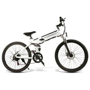 SAMEBIKE Elektrofahrrad Ebike Mountainbike Klapprad 26 Zoll mit 48V 10Ah Lithium-Akku, 500W Motor 30km/h, Shimano 21-Gang Aluminiumrahmen Scheibenbremse, Elektrische E-Bike für Herren Damen