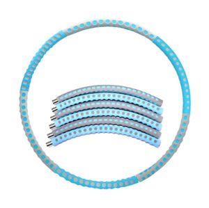 Fitness Hula Hoop Series  mit Schaumstoff  96CM Freie Gewichtszunahme (2-6 kg)  Blau+Grau
