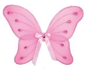 Karneval Kostüm Zubehör Schmetterling Flügel rosa Fee Elfe Fasching